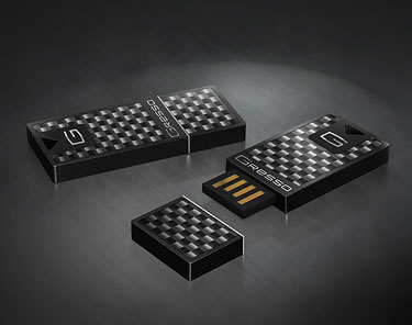 Gresso Gran Monaco USB drives made from exotic car materials