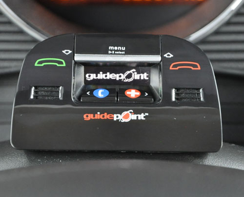 Guidepoint Bluetooth hands free device with EMS and roadside assistance