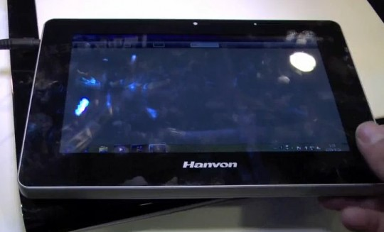 Hanvon Windows 7 multitouch slate spied [Video]