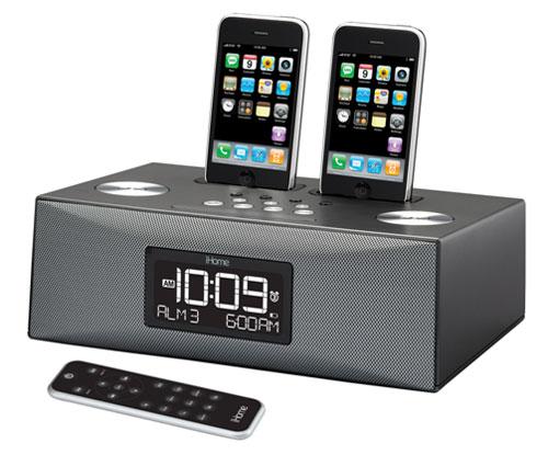 iHome unveils iP88 dual iPod dock alarm clock