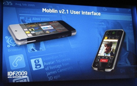 Intel Moblin v2.1 mobile UI gets video demo at IDF