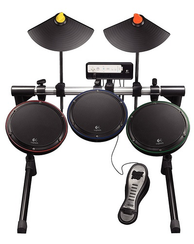 Logitech unveil Drum and Guitar controllers for Wii and Xbox 360