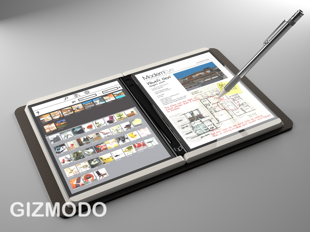 Microsoft Courier tablet breaks cover: dual-screen multitouch [Video]