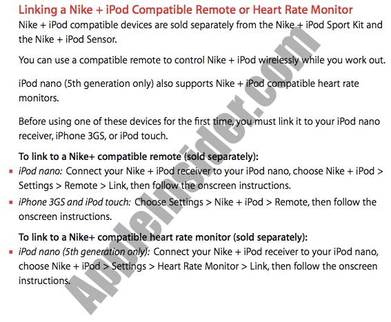 Nike+ iPod nano 5G heart rate monitor tipped