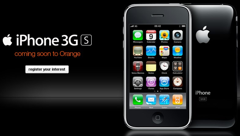 O2 losing iPhone 3GS exclusivity: on Orange UK later in 2009