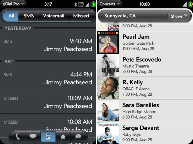 gDial Pro Google Voice app hits Palm Pre, plus 9 other titles