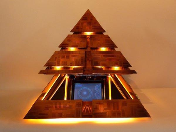 Stargate Pyramid HTPC case-mod is motorized marvel [Video]