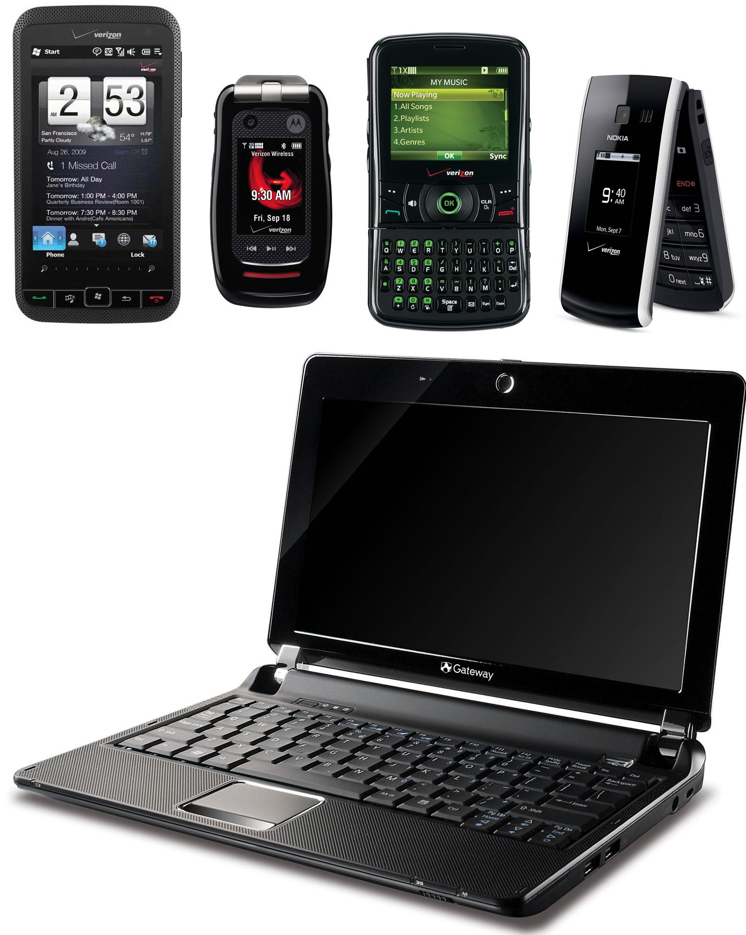 Verizon Announcement: Gateway LT20 netbook, Razzle, Motorola Barrage and Nokia 2705 Shade