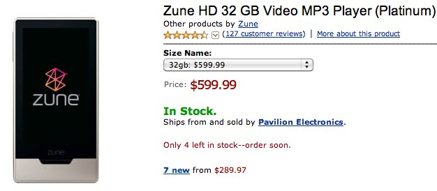 Zune HD shortage lures out price-gouge merchants