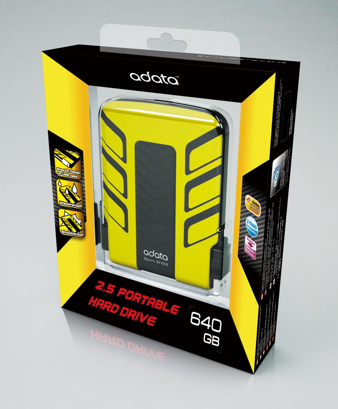 A-DATA SH93 waterproof & shock-resistant portable hard-drive