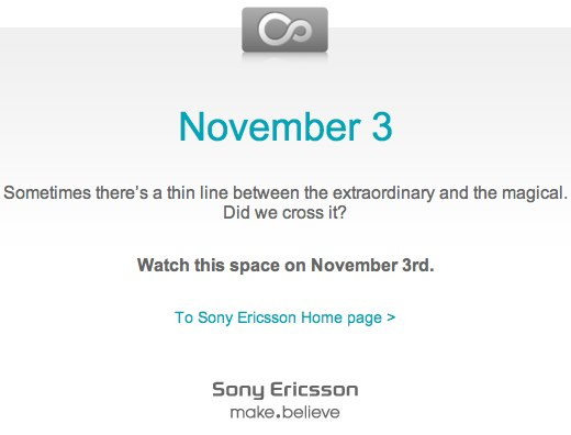 Sony Ericsson XPERIA X10 Android announce coming November 3rd?