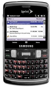 Sprint Samsung Intrepid Windows Phone sneaks in touchscreen