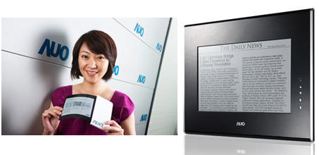AUO flexible e-paper and 20-inch E Ink panel announced
