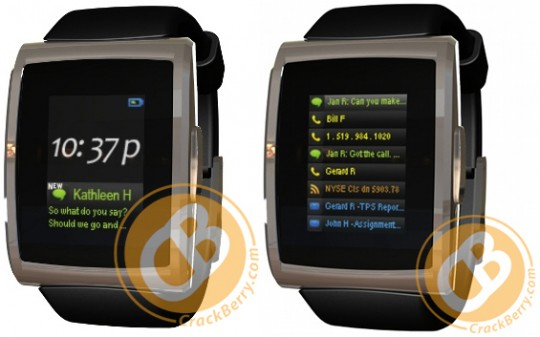 inPulse BlackBerry Bluetooth smartwatch breaks cover