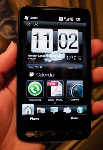 HTC HD2 hits O2 UK in week starting October 19th