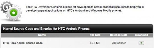 HTC release Hero kernel source code: modders rub hands with glee