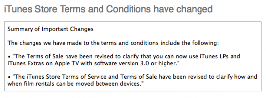 Apple TV 3.0 tipped in new iTunes T&Cs