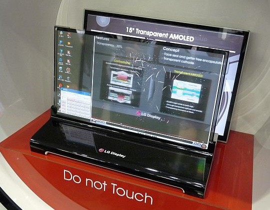 LG Display and Samsung Mobile show transparent OLEDs