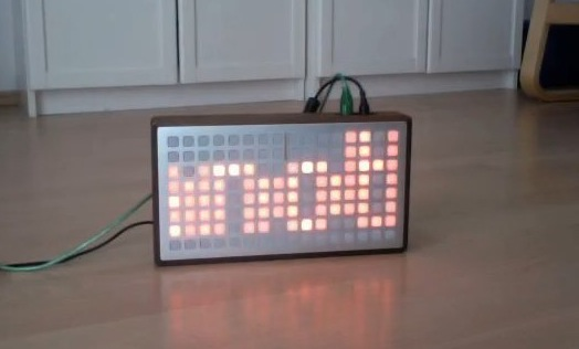 monome turned into DIY low-res Twitter display [Video]