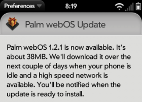 Palm webOS 1.2.1 restores iTunes sync, adds photo support