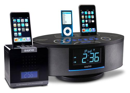 Sanyo unveils DMP-P1 and DMP-692 iPod clock radios