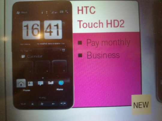 "T-Mobile HTC Touch HD2 ""coming soon"" catalog leaks"
