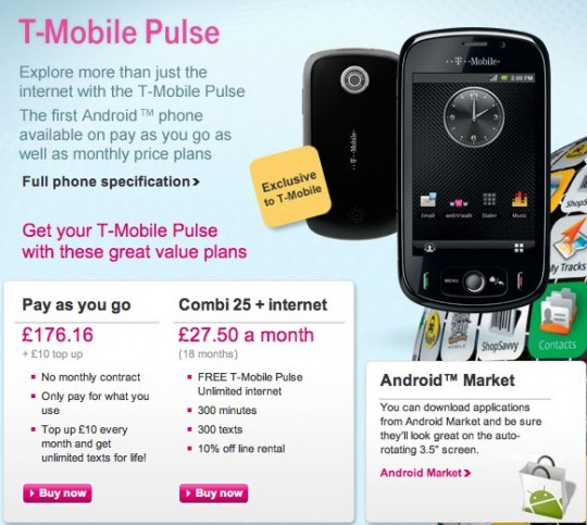 T-Mobile Pulse arrives on UK prepay from today