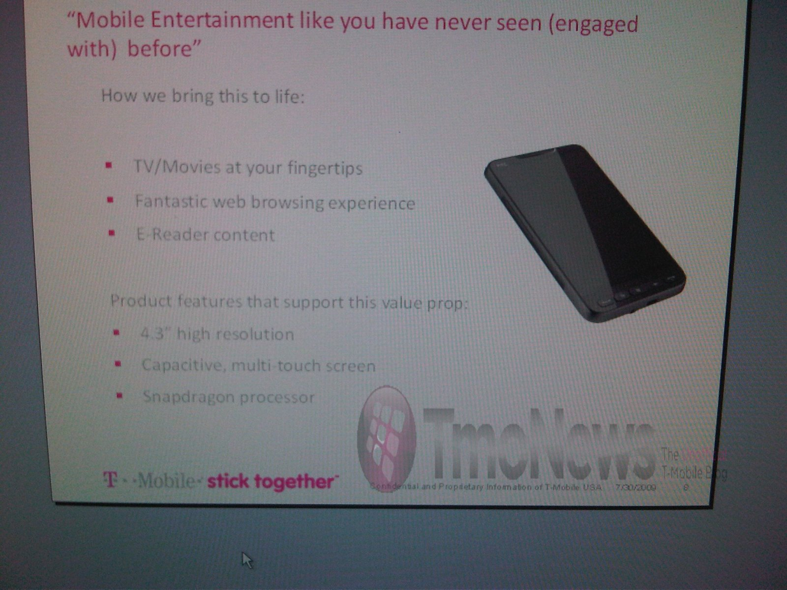 HTC HD2 confirmed for T-Mobile USA?