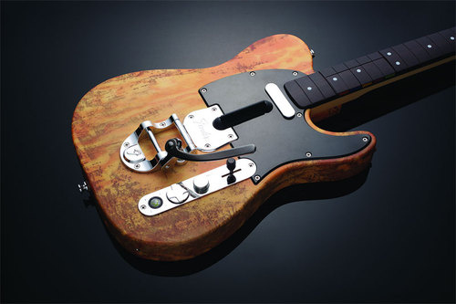 Mad Catz unveils distressed wireless Telecaster controller for Rock Band