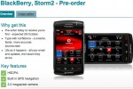 Vodafone BlackBerry Storm 2 9520 arrives October 26th in UK