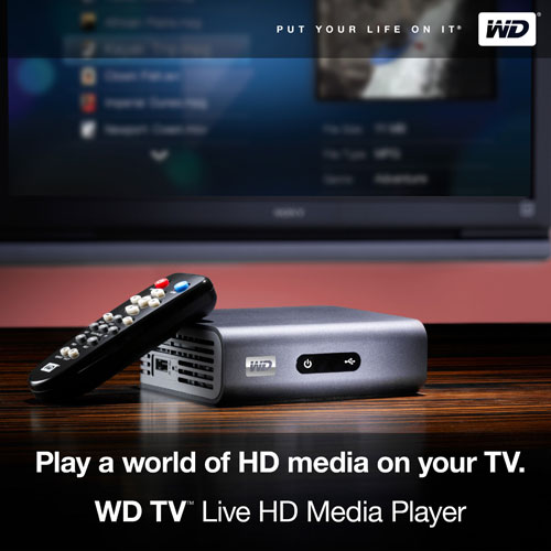 Western Digital WDBAAN0000NBK WD TV Live gets official