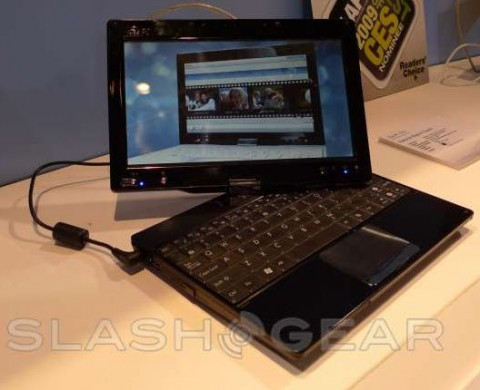 Video of Asus Eee PC T91 touch interface surfaces
