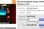 BlackBerry Pearl 9100 (aka Striker) appears on eBay?