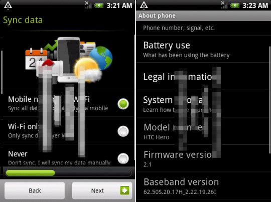 HTC Hero running Android 2.1 with new HTC Sense spotted