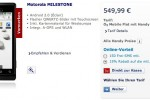 Motorola MILESTONE gets O2 Germany listing for €550