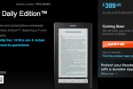 Sony Reader Daily Edition up for pre-order at $400