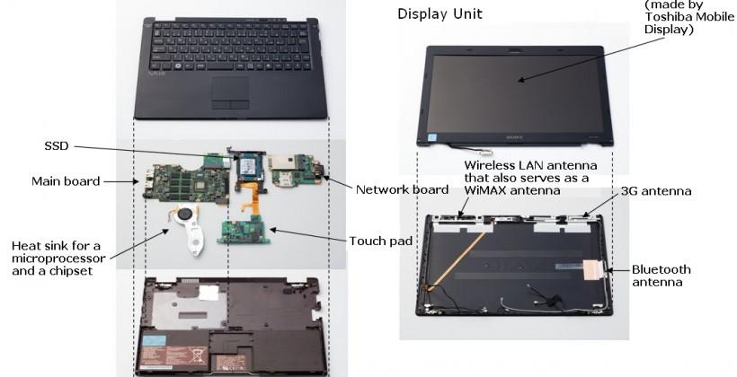 Sony VAIO X teardown reveals huge engineering ingenuity