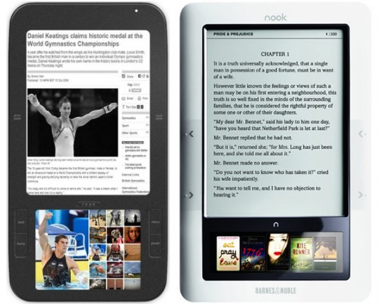 "B&N nook sales injuction denied but court recognizes ""genuine dispute"" over design theft"