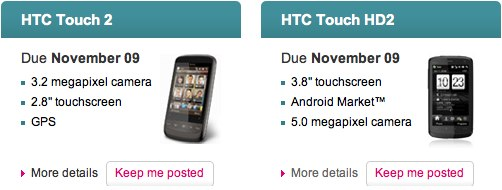 HTC HD2 and Touch2 confirmed for T-Mobile UK this month