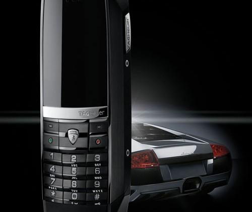TAG Heuer MERIDIIST mobile phone uses Lamborghini design elements