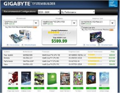 For DIYers and PC Gamers, GIGABYTE System Builder released by Futuremark