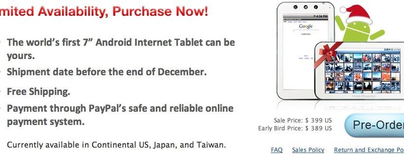 Camangi WebStation pre-orders open at $399