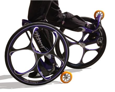 Chariot Skates: half rollerblade, half chariot