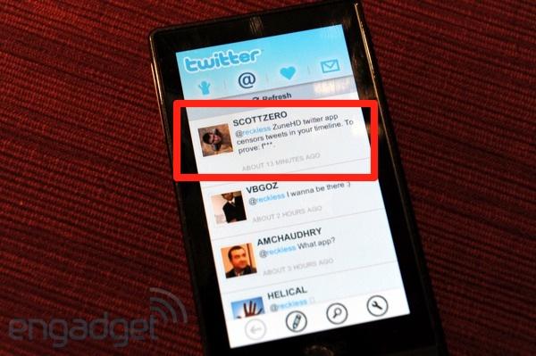 Microsoft Zune HD finally gets Twitter app [Updated]