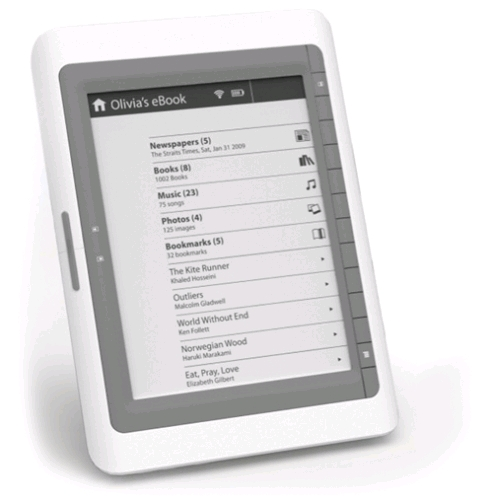 Ambiance Technologies Digibook ADB-106 ebook reader teases with wireless icon
