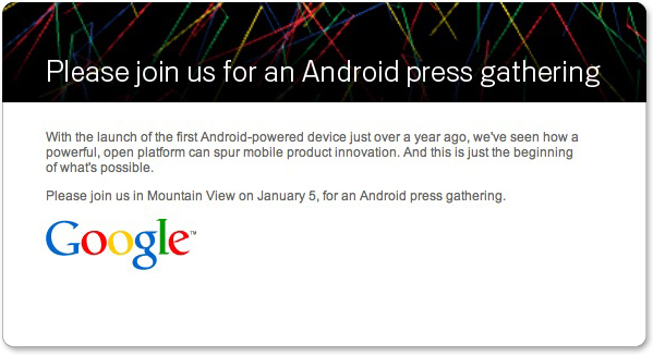 Google Phone press conference January 5!