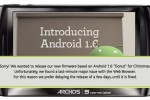 "Archos blame ""major issue"" with Android 1.6 browser for firmware pull"