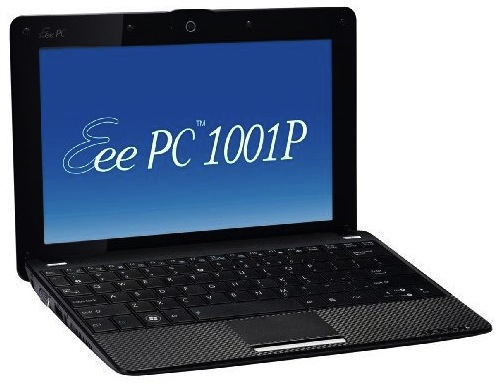 ASUS Eee PC 1001P with Atom N450 arrives Jan 6