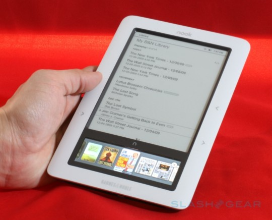 "Barnes & Noble nook v1.2 firmware out: ""noticeably faster"""