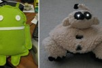 DIY Android Doll and Rovio dog-costume: when geeks get crafty